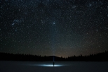 Hiker' solitude with the stars - Okanagan - Preserved Light Photography
